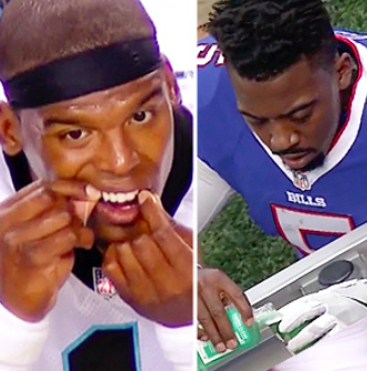 athletes taking care their oral health